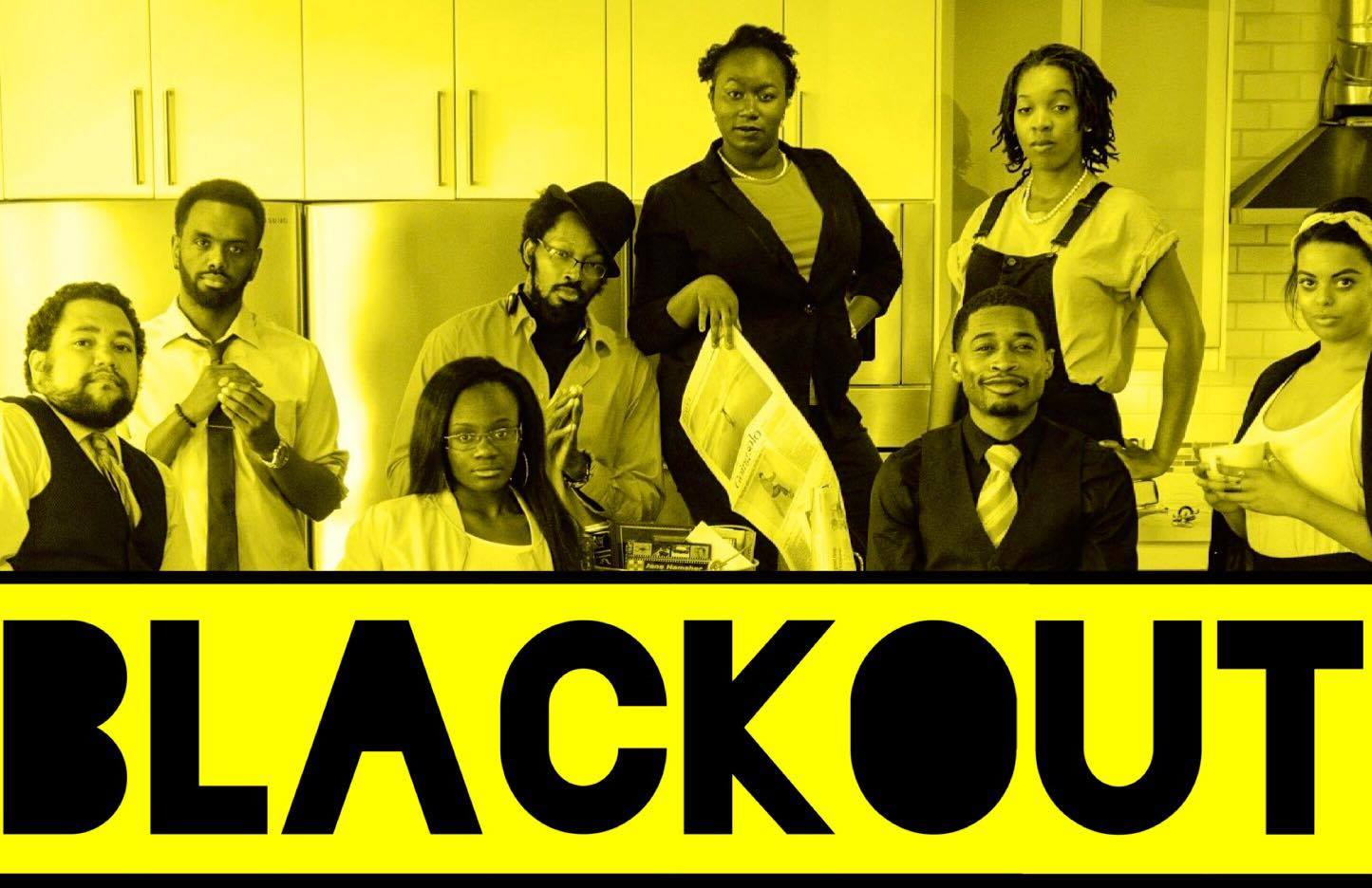 Five performers, all african-american, around the word blackout